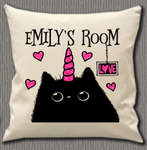 Personalised Cushion Cover~Caticorn