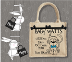 Personalised Jute Bag~Cheeky Monkey Boy