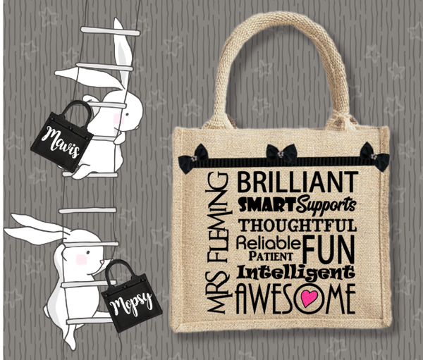 Personalised Jute Bag~Teacher Awesome