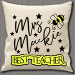 Personalised Cushion Cover~Best Teacher Bee