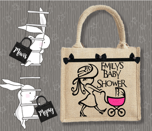 Personalised Jute Bag~Baby Shower