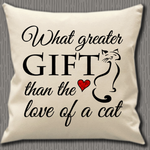 Personalised Cushion Cover~Gift Of A Cat