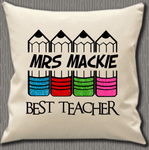 Personalised Cushion Cover~Pencils