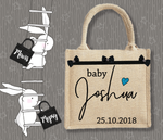 Personalised Jute Bag~Baby Boy Signature