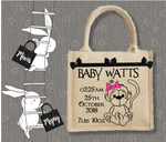 Personalised Jute Bag~Cheeky Monkey Girl
