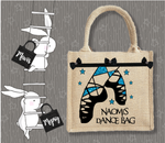 Personalised Jute Bag~Highland Dance Name