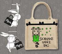 Personalised Jute Bag~Irish Dance Name