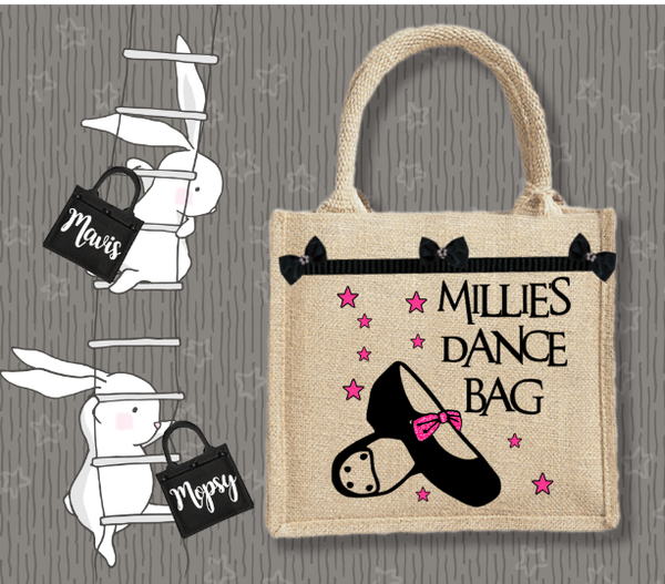 Personalised Jute Bag~Tap Dance Name