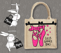 Personalised Jute Bag~Ballet Dance Name