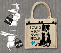 Personalised Jute Bag~Love And A Boy