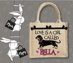 Personalised Jute Bag~Love And A Girl