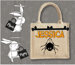 Personalised Jute Bag~Halloween Spider