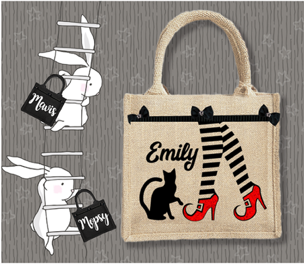 Personalised Jute Bag~Halloween Witch