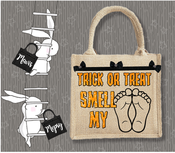 Personalised Jute Bag~Trick Or Treat