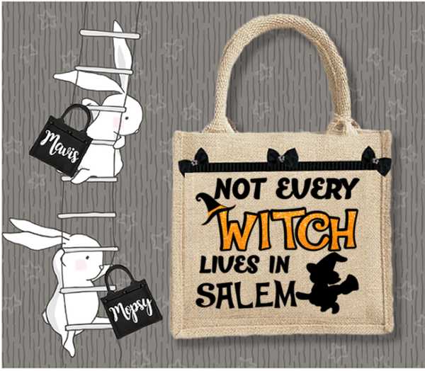 Personalised Jute Bag~Only Witch In Salem