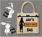 Personalised Jute Bag~Trick Or Treat Zombie