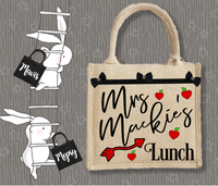 Personalised Jute Bag~Teacher Lunch