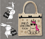 Personalised Jute Bag~Unicorn Food