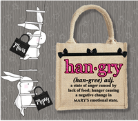Personalised Jute Bag~Hangry