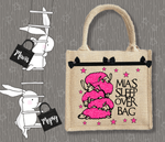 Personalised Jute Bag~Sleepover Sheep