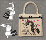Personalised Jute Bag~Unicorn Wings