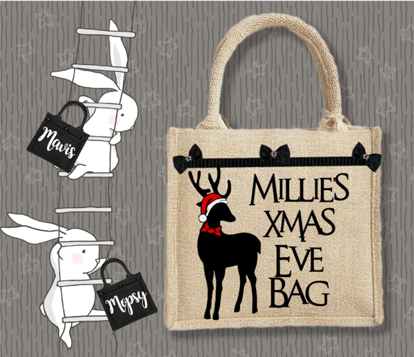 Personalised Jute Bag~Christmas Stag