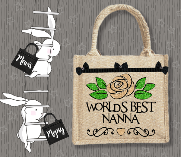 Personalised Jute Bag~Best Nanna