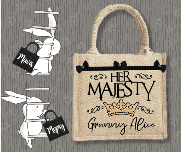 Personalised Jute Bag~Her Majesty