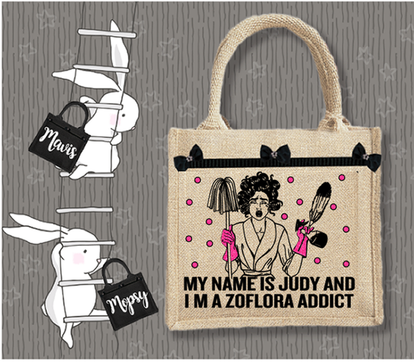 Personalised Jute Bag~Cleaning Addict