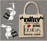Personalised Jute Bag~Being Fabulous Since