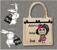 Personalised Jute Bag~My Ikkle Bag