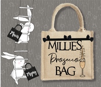 Personalised Jute Bag~Prosecco Bag