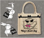 Personalised Jute Bag~Sandals Beach