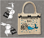 Personalised Jute Bag~Beach Mermaid