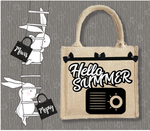 Personalised Jute Bag~Beach Radio