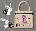 Personalised Jute Bag~Cheeky  Fox