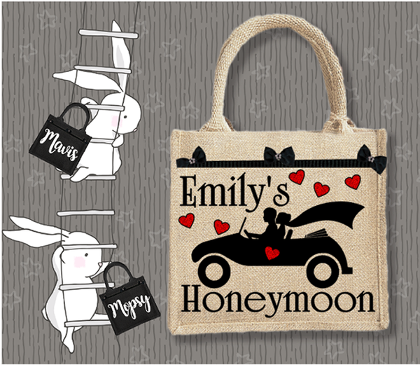 Personalised Jute Bag~Wedding Honeymoon