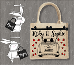 Personalised Jute Bag~Wedding Car