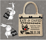 Personalised Jute Bag~Wedding Dove