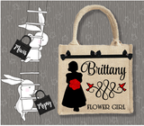 Personalised Jute Bag~Wedding Flowergirl