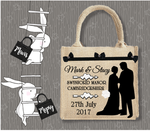 Personalised Jute Bag~Wedding Couple