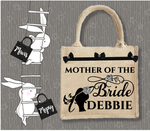 Personalised Jute Bag~Mother Of The Bride