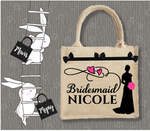 Personalised Jute Bag~Wedding Bridesmaid