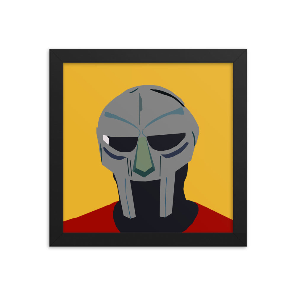 RIP DOOM (MF DOOM Tribute) Framed wall poster