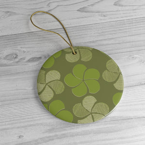 Green on Green Floral Ornament