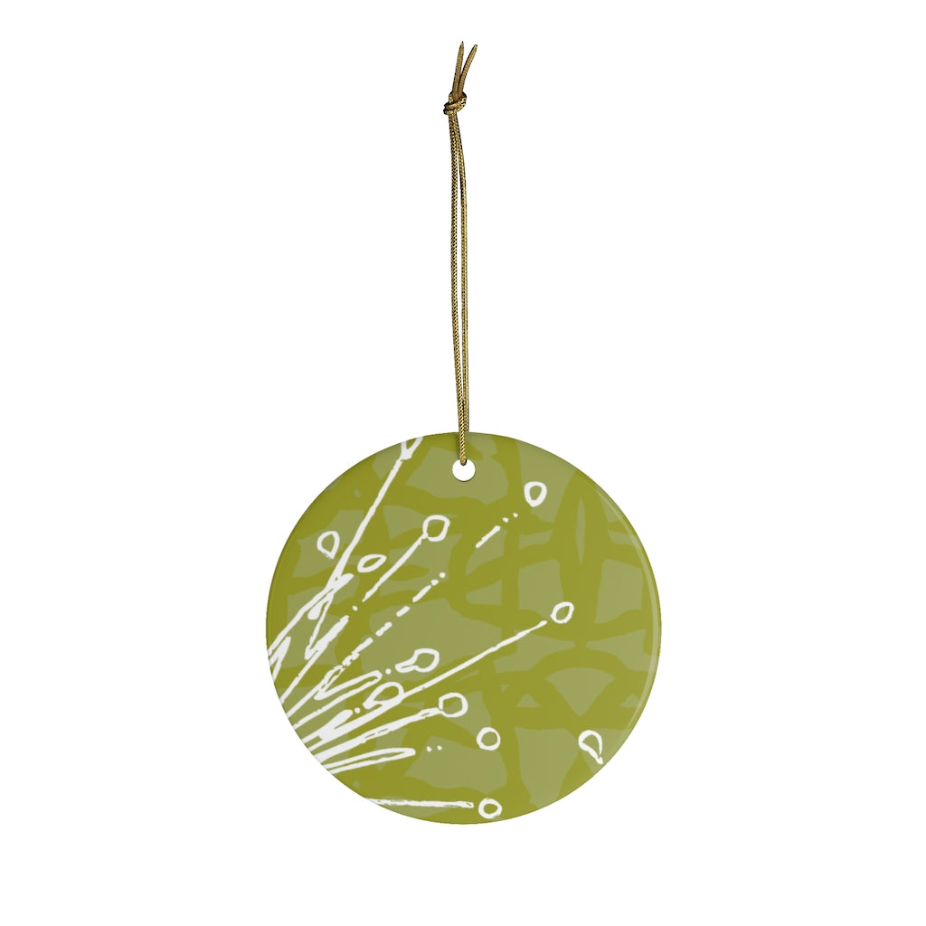 Flower Power Ornament - Chartreuse