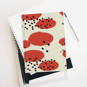 Orange Retro Geometric Journal