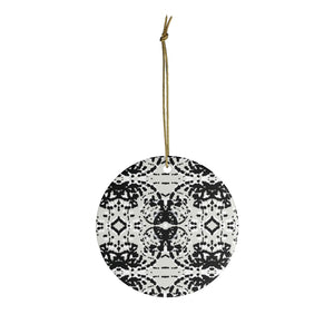 Black and White Particles Ornament