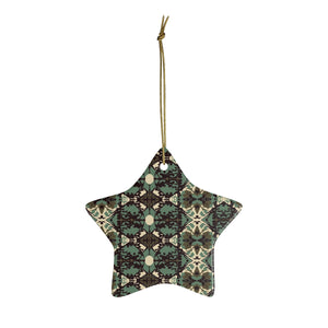 Damask and Receive Ornament – Brown/Sage Ornament