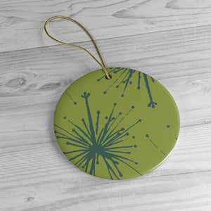 Flower Power Ornament – Teal